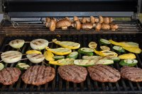 Firing up the grill is convenient and easy with propane fuel.