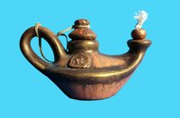 Genie lamps make great centerpieces for Arabian Nights parties.