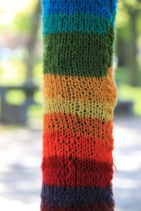 You can make a knitted scarf longer.