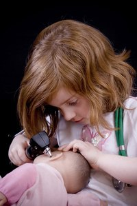 Children love to pretend they are doctors.