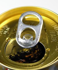 Modern aluminum cans are chemically treated with a plastic coating.