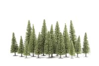 Fake trees are crucial to making a diorama landscape look realistic.