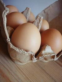 Egg cartons are made of different materials.