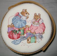 Aida cloth provides the foundation for cross stitched projects.