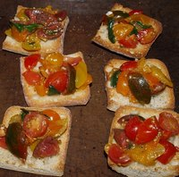 Various bruschetta.