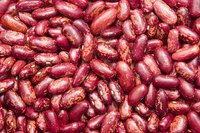 Kidney beans are similar in color and shape but larger than red beans.