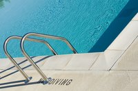 Pool ladders are a key safety element.