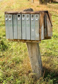This mailbox post can be knocked over quite easily.