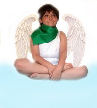 Alter the angel costume to meet your son's preferences and for seasonal weather.