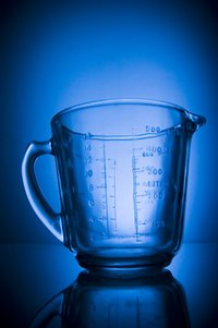 A typical Pyrex measuring cup has the quantities on the side.