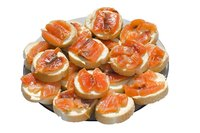 Smoked salmon is one popular variety of smoked fish and complements bagels well.