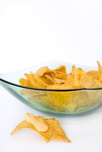 Tortilla chips are a simple party food.