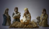 The nativity, the true meaning of Christmas, can be incorporated into your Christmas party.