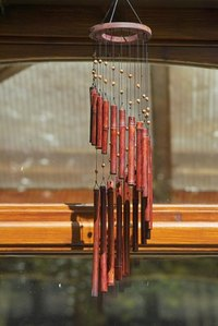 Wind chimes can work with feng shui.