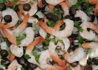 Precooked shrimp makes a great addition to salads.