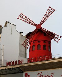 The Moulin Rouge in Paris.