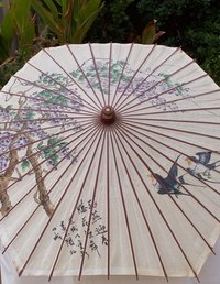 Decorative umbrellas offer grace and elegance.