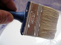 Painting vinyl or linoleum surfaces.