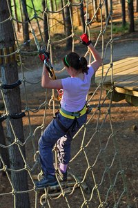 A cargo net improves strength and cardiovascular endurance.