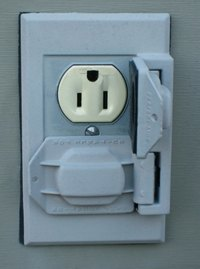 Outdoor outlets should have covers to protect them from rain and other weather elements.