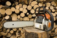 Increase safety when cutting firewood by using a stand for the logs.