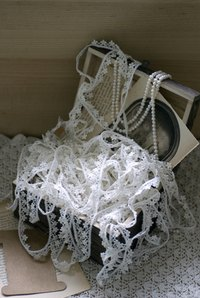 The delicate nature of lace makes stain removal difficult.