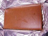 Foil-wrapped chocolate bar