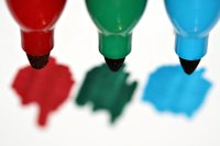 Washable markers are easy to blend evenly by using a paintbrush and a little bit of water.