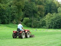 Greasing a lawn mower at proper intervals ensures a long and reliable mower service life.