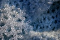 Like real snowflakes, borax snowflakes are formed of crystals.