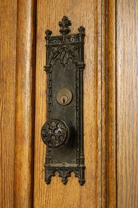Brass doorknobs oxidize if you don't clean them regularly.