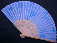 Oriental fan open for display.