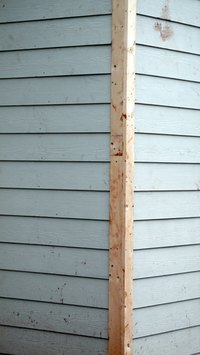 Siding repaired after warping.