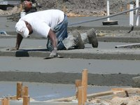 Forming a concrete slab for an addition is a critical step in the building process.