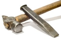 Hammers and chisels are stone dressing tools.