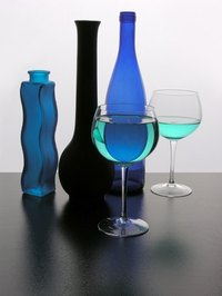 Decorative blue homewares are inexpensive gifts for a sapphire wedding anniversary.