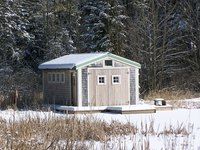Insulating a metal shed roof can keep a shed warmer even without a heat source.