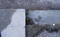 Properly fill the space between two conccrete slabs to avoid dangerous accidents