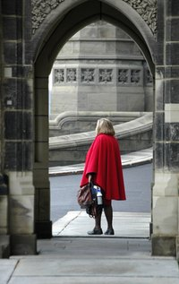 This is a classic example of a cape you can make yourself.