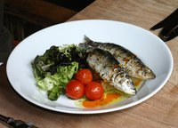 Sardines are a good source of calcium and vitamin D.