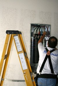 A breaker panel organizes and protects installed breakers.