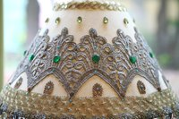 Beaded lamp shade
