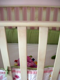 Keep that crib bumper fresh and clean with periodic washings.
