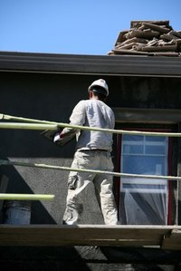 Applying stucco to your home can give it a new look.