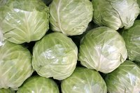 Sauerkraut is made by fermenting shredded cabbage.
