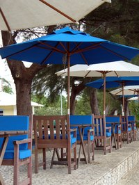 Sunbrella fabric is used for many outdoor patio products.