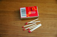 Use kitchen safety matches to light the pilot.