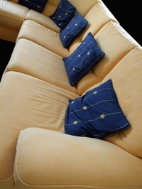 Custom slipcovers can be made for cushions.