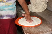 The best tortillas are formed by hand.