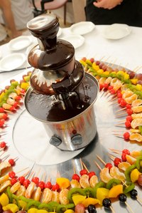 Make a statement with a chocolate fondue fountain.